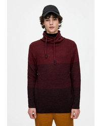 Мужской темно-красный свитер с хомутом от Pull&Bear