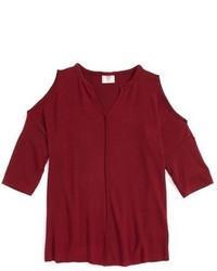 Темно-красный свитер