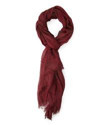 Темно-красный шарф