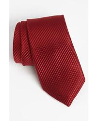 Темно-красный шелковый галстук