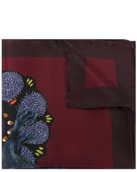 Темно-красный шелковый нагрудный платок с принтом от Paul Smith