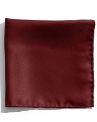 Темно-красный шелковый нагрудный платок