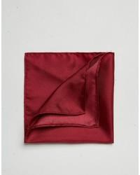 Темно-красный шелковый нагрудный платок от Asos
