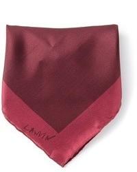 Темно-красный шелковый нагрудный платок от Lanvin