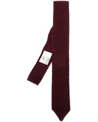Мужской темно-красный шерстяной галстук с принтом от Lardini