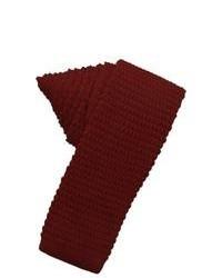 Темно-красный шерстяной галстук
