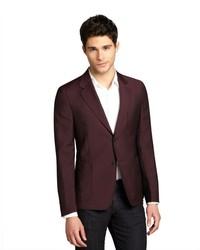 Темно-красный шерстяной пиджак