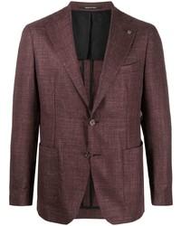 Мужской темно-красный шерстяной пиджак от Tagliatore