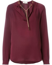 Темно-пурпурная блузка с длинным рукавом от MICHAEL Michael Kors