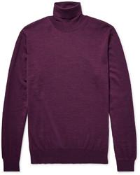 Темно-пурпурная водолазка