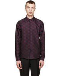 Темно-пурпурная классическая рубашка