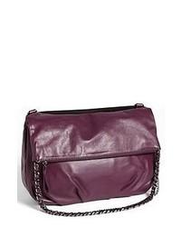 Темно-пурпурная кожаная сумка через плечо