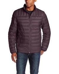 Темно-пурпурная куртка-пуховик