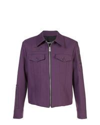 Темно-пурпурная куртка-рубашка