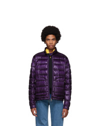 Мужская темно-пурпурная легкая куртка-пуховик от Moncler