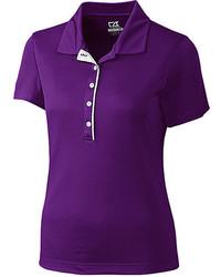 Темно-пурпурная рубашка поло