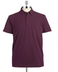 Темно-пурпурная футболка-поло