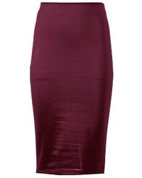 Темно-пурпурная юбка-карандаш