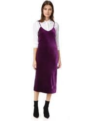 Темно-пурпурное бархатное платье от Rebecca Minkoff