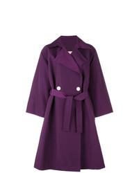 Темно-пурпурное пальто