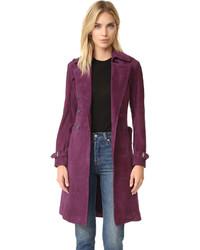 Женское темно-пурпурное пальто от Rebecca Minkoff