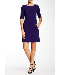 Темно-пурпурное платье прямого кроя