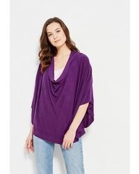 Темно-пурпурное пончо от Olange Assorty