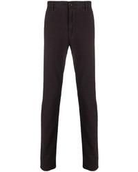 Темно-пурпурные брюки чинос в клетку от Incotex