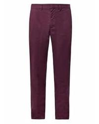 Темно-пурпурные брюки чинос
