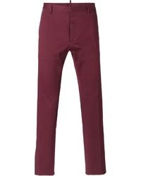 Темно-пурпурные брюки чинос от DSQUARED2