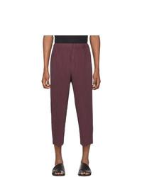 Темно-пурпурные брюки чинос от Homme Plissé Issey Miyake