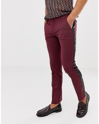 Темно-пурпурные брюки чинос от Twisted Tailor