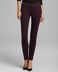 Темно-пурпурные джинсы скинни