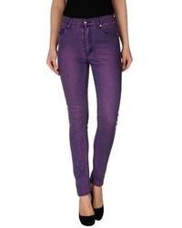 Женские темно-пурпурные джинсы скинни от Cheap Monday