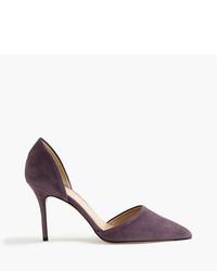 Темно-пурпурные замшевые туфли