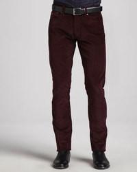 Темно-пурпурные классические брюки