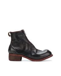 Темно-пурпурные кожаные ботинки челси