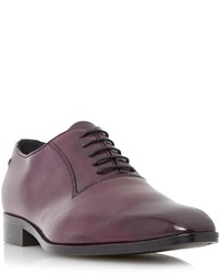 Темно-пурпурные кожаные оксфорды