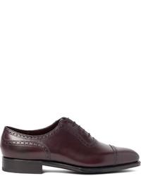 Темно-пурпурные кожаные оксфорды от Edward Green