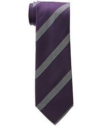 Темно-пурпурный галстук в вертикальную полоску