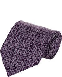 Темно-пурпурный галстук с принтом