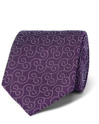 Мужской темно-пурпурный галстук с принтом от Charvet