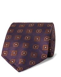 Мужской темно-пурпурный галстук с принтом от Drake's