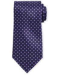 Темно-пурпурный галстук с цветочным принтом