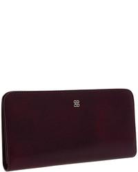 Темно-пурпурный кожаный клатч