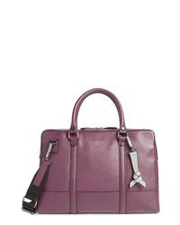 Темно-пурпурный кожаный портфель