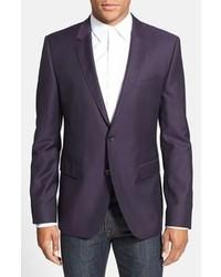 Темно-пурпурный пиджак