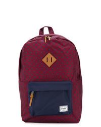 Темно-пурпурный рюкзак из плотной ткани