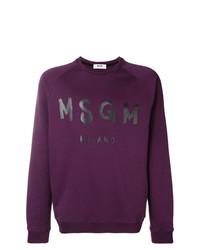 Мужской темно-пурпурный свитшот с принтом от MSGM
