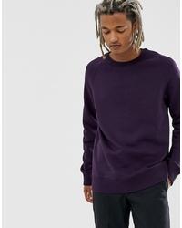 Мужской темно-пурпурный свитшот от Weekday